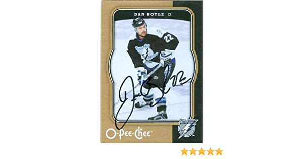 Dan Boyle autographed Hockey Card (Tampa Bay Lightning) 2007-2008 O-Pee-Chee at Amazons Sports Collectibles Store