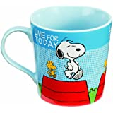 Vandor 85265 Peanuts Snoopy 12 oz Ceramic Mug, Multicolor