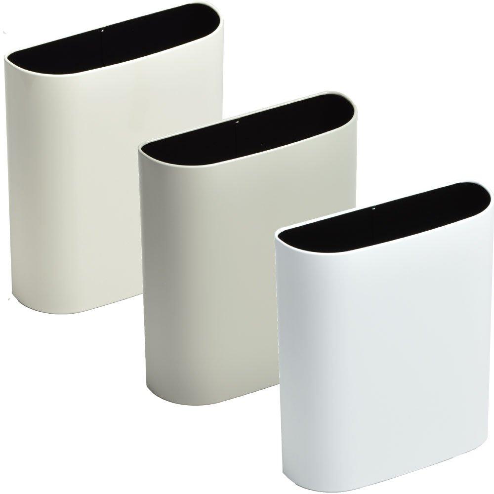 ぶんぶく マグネットバケット 全9色の中から選べる3個セット ゴミ箱 ごみ箱 ダストボックス おしゃれ 日本製 (アイボリー×グレー×マットホワイト) B075K3TD6S アイボリー×グレー×マットホワイト アイボリー×グレー×マットホワイト