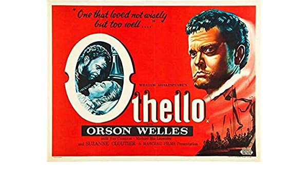 Othello Orson Welles vintage movie poster print
