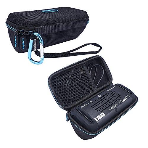 MASiKEN Hard EVA Travel Carrying Case Storage Bag Compatible for Cambridge SoundWorks OontZ Angle 3 Plus Edition Portable Bluetooth Speaker (Black)