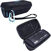 MASiKEN Hard EVA Case Portable Travel Carrying Case Storage Bag for OontZ Angle 3 Plus Portable Wireless Bluetooth Speaker ( Black )