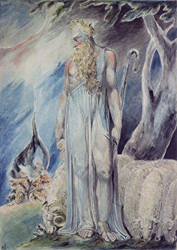 William Blake: Moses and the Burning Bush. Fine Art Landscape Print/Poster. Size A3 (42cm x 29.7cm)]()