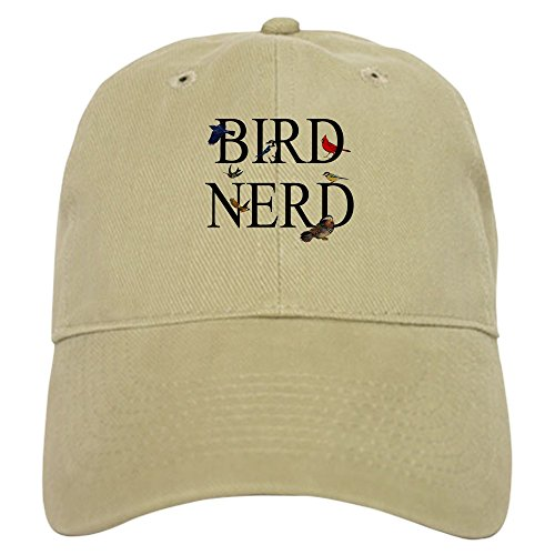 CafePress Bird Nerd Baseball Cap with Adjustable Closure, Unique Printed Baseball Hat Khaki