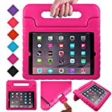 BMOUO ShockProof Convertible Handle Light Weight EVA Protective Stand Kids Case for Apple iPad 4, iPad 3 and iPad 2 - Rose