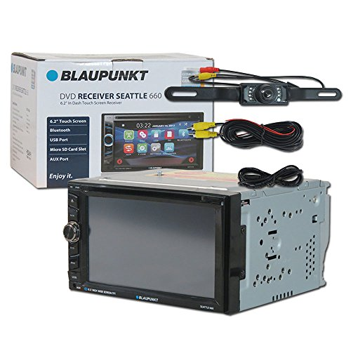 Blaupunkt Seattle 660 Car audio Double Din 2DIN 6.2 Touchscreen DVD MP3 CD stereo Bluetooth + Remote & DCO Waterproof Backup Camera with Nightvision