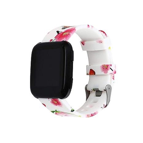 Hocolater Correa para Reloj Inteligente de Cuero señoras con Correa Fitbit Versa Classic