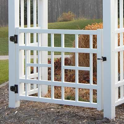 Windford Gate in White Finish by Dura-Trel