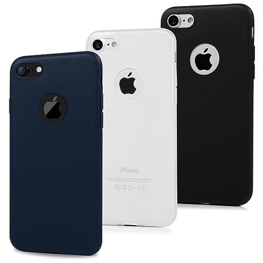 24 opinioni per 3x Cover iPhone 7 Silicone, Custodia iPhone 7 Morbido TPU Flessibile Gomma
