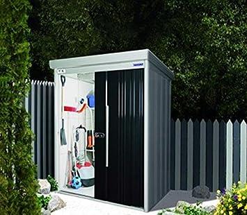 Caseta de jardín acero galvanizado, con puertas 179 x, negras 193,2-PEGANE-x 211 cm: Amazon.es: Hogar