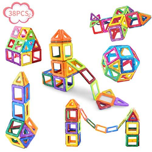Magnetic Blocks-Magnetic Blocks Building Set for Kids-38 PCS