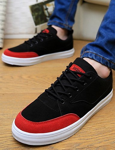 Ei&iLI Zapatos de Hombre - Sneakers a la Moda - Casual - Semicuero - Negro / Azul / Gris , black , us7 / eu39 / uk6 / cn39 Black