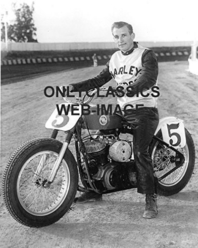 rley Davidson Motorcycle Flat Track Racer #5 John Gibson AMA Racing Photo ()