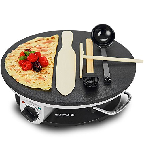 Andrew James Pancake Maker Crepe Machine | Electric Non-Stick Cooker with...