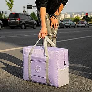 Outdoor travle Storage Bag Waterproof Folding Luggage Bag Purple