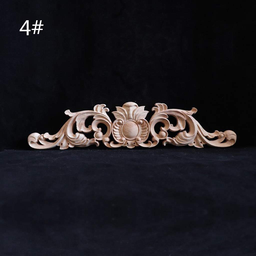 decoraci/ón Tallada de Madera Calcoman/ía de Madera para Esquinas Figuras Retro para Puertas de Armario Muebles A YUYUE21