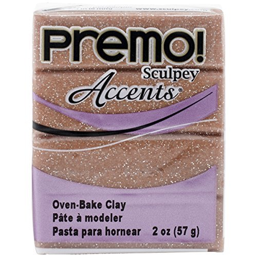 Brand New Premo Sculpey Accents Polymer Clay 2oz-Rose Gold Glitter Brand New