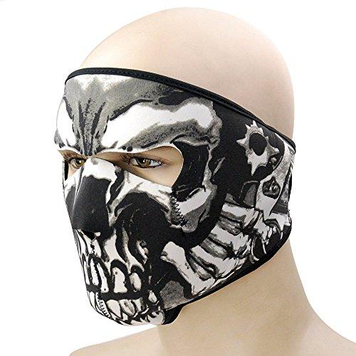 Feelglad® Sturmhaube Balaclava Neopren Masken für Radfahren Motorrad Unter Helme Schutzausrüstung Vollgesichtsmaske und Halloween Cosplay (Style C)