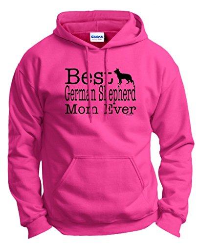 ThisWear Dog Lover Gift Best German Shepherd Mom Ever Hoodie Sweatshirt Large (Akc German Shepherd)
