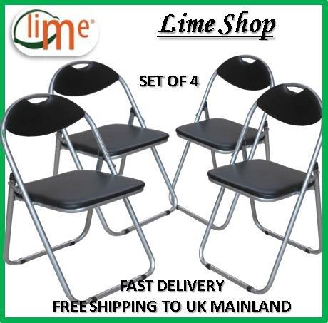 Prime Furnishing - Set di 4 sedie pieghevoli imbottite, in ...
