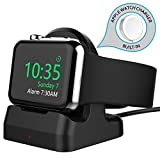 ROITON for Apple Watch Charger, Charging Station Stand Holder Dock for iWatch with Nightstand Mode Portable Wireless Magnetic Cable Cord for Apple Watch Series 4 3 2 1 All 38/40/42/42mm (3.3 FT/1M)