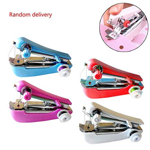 - Mini Sewing Machine Popular Lovely Cordless Hand-held Clothes Home Travel Use Tools