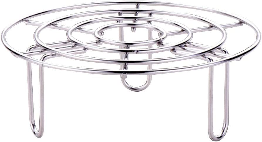 Steamer Rack und Trivet Durable Kitchen Accessories Pot Pan Tray Stand Tall Wire Pressure Cooker Food Vegetable Stainless Steel Heating Supplies Heavy Duty(24cm)