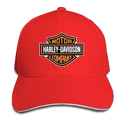 nntbj ajustable Sanwich caza pico sombrero y gorra logotipo de Harley Rojo