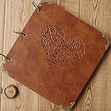 XIDUOBAO Retro Leather Photo Album Special Scrapbook DIY Anniversary Scrapbook Album,Vintage Photo Album,Love Heart Wedding Album.