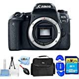 Canon EOS 24.2MP 77D Digital Camera Body With 32GB Memory Card, Gadget Bag/Case, Starter Cleaning Kit + More #1892C001 [International Version] (Starter Bundle)