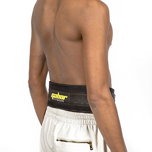 Gabor Fitness 4 Inch Epic Performance Low Profile Weightlifting Lifting Belt