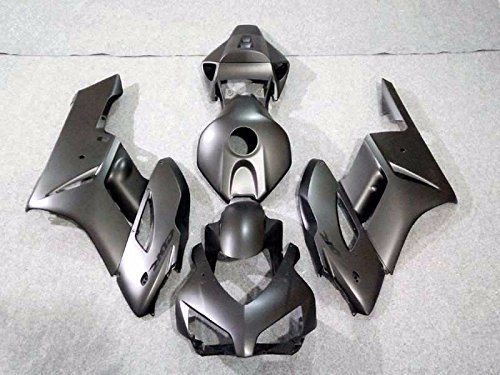FATExpress Matte Flat Black Complete Fairing Injection Bodywork ABS Plastic Molding Kit w//Tank Cover for 2004-2005 Honda CBR1000RR CBR 1000 RR 1000RR Windshield /& Heat Shield as
