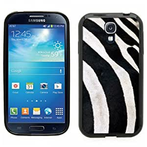 Samsung Galaxy S4 SIIII Black Rubber Silicone Case - Zebra Skin realistic close up of zebra (not real fur just printed to look real)