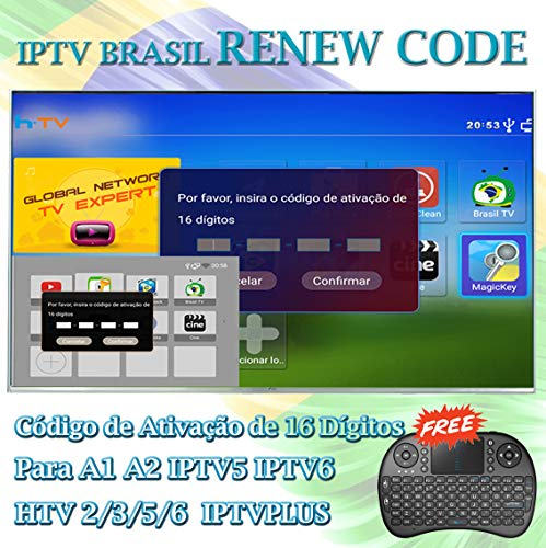 Top brazil iptv 16 digit renew code