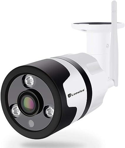 Luowice WiFi Security Camera Outdoor Wireless IP Camera 3MP 180 Degree Fisheye Panoramic Surveillance Video CCTV Camera Night Vision 100ft Waterproof