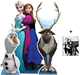 BundleZ-4-FanZ Fan Packs Anna and Elsa, Sven and Olaf Frozen Disney Set of 3 Cardboard Cutout/Standee Collection Includes 8x10 Star Photo
