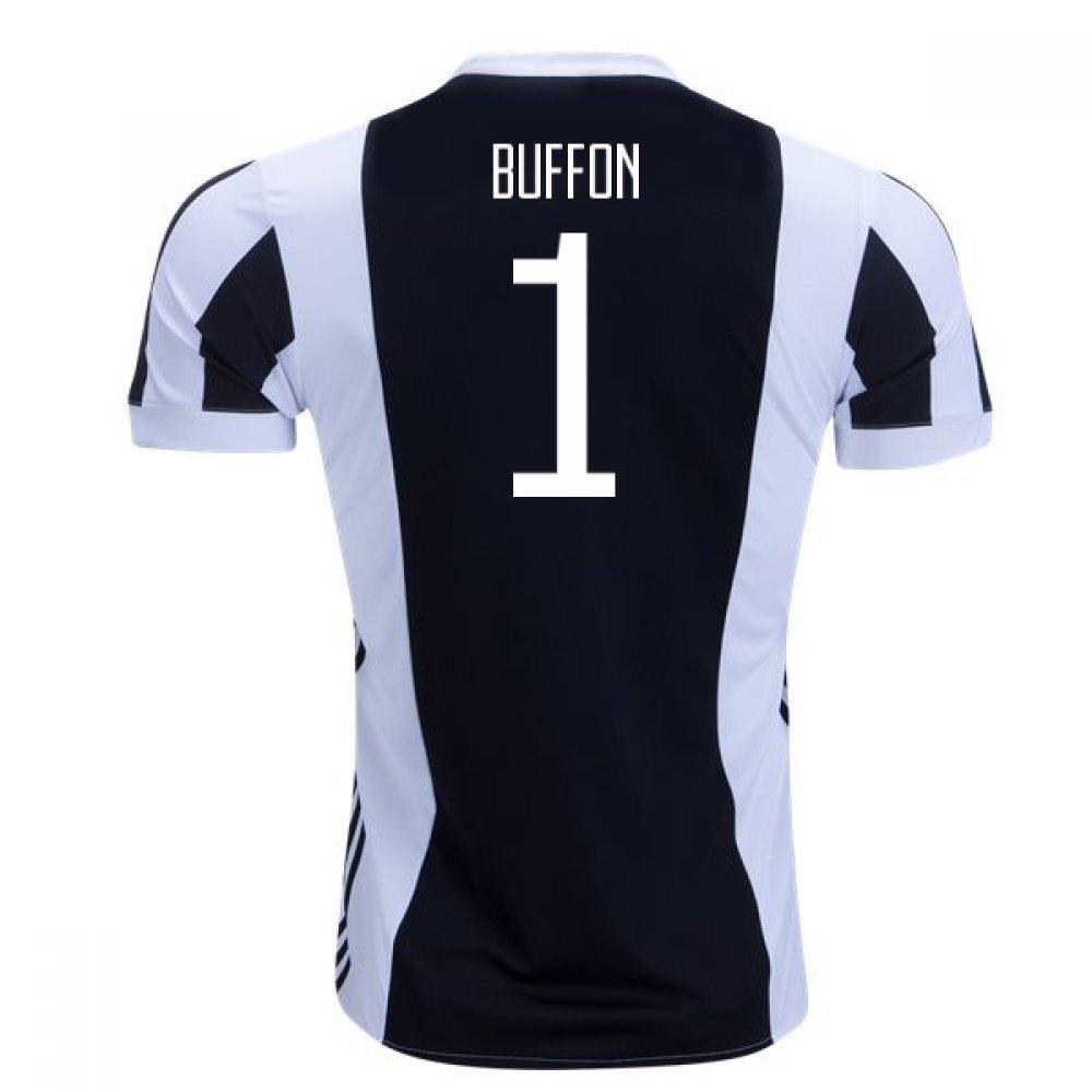 2017-18 Juventus Home Football Soccer T-Shirt Trikot (Gianluigi Buffon 1) - Kids
