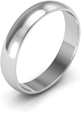 14K White Gold 2mm Light Comfort Fit Band