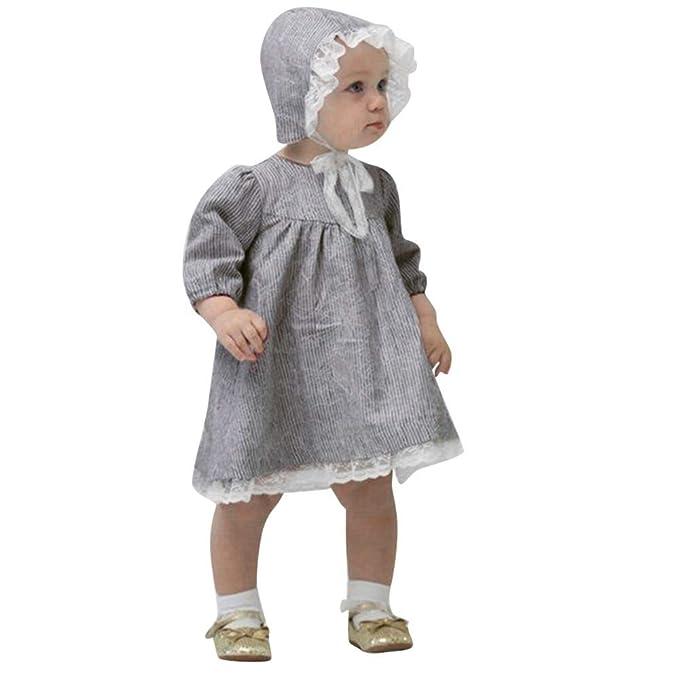 SamMoSon♥♥Ropa para Niña Vestidos BebéS Faldas Vestido Ceremonia Manga Larga niño Navidad Conjuntos
