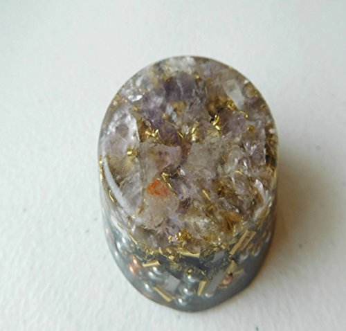 Amethyst, Ametrine Orgone Generator Energy Accumulator 528Hz/7.83Hz/Advance Harmonics Many Beautiful Ingredients and Colors!! (Amethyst, Ametrine)
