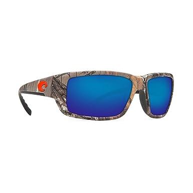 7837ecfbfef6 Costa Del Mar Fantail Sunglasses, Realtree Xtra Camo, Blue Mirror 580 Glass  Lens: Amazon.in: Clothing & Accessories