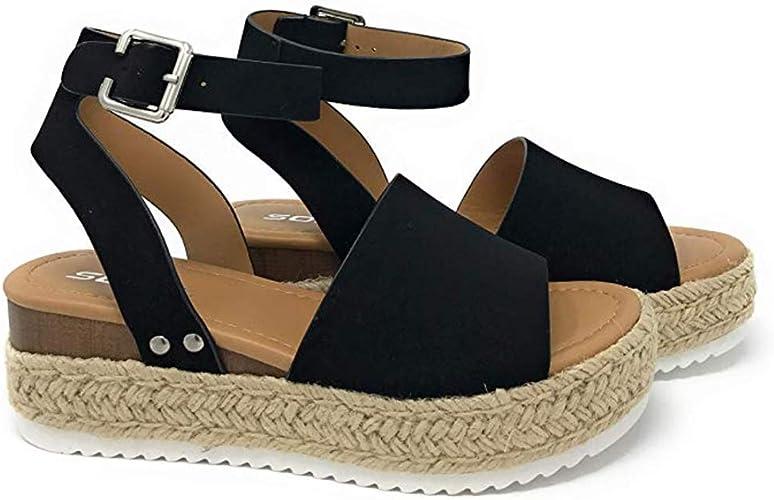 Ladies Womens Ankle Strap Studded Espadrilles Sandals Summer Pumps Shoes Size