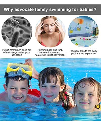 """51e1Rz4NKeS Tamaño familiar: El tamaño de esta piscinas hinchables es 200 X 150 X 50 cm=78.7"""" X 59"""" X 19.7""""Adecuado para 2-3 niños para tener su propia piscina niños familiar para este verano y disfrutar de una fiesta en la piscina infantil en su ¡¡patio interior!! Alta calidad y resistente al desgaste: Esta piscina niños está hecha con material de PVC de alta resistencia, resistente y agradable para la piel, protección del medio ambiente y no tóxico, resistente al desgaste y esta piscina hinchable infantil es 80% más gruesa que la mayoría de sus competidores en el mercado,reduciendo el riesgo de pinchazos para una larga vida útil y seguridad reforzada. Diseño antifugas y duradero: Válvula antifugas, diseño multicapa y material de sellado de alta calidad para garantizar que estas piscina infantil eviten fugas de aire y agua.Puede evitar eficazmente el daño de productos afilados, que es perfecto para uso en jardines o exteriores."""