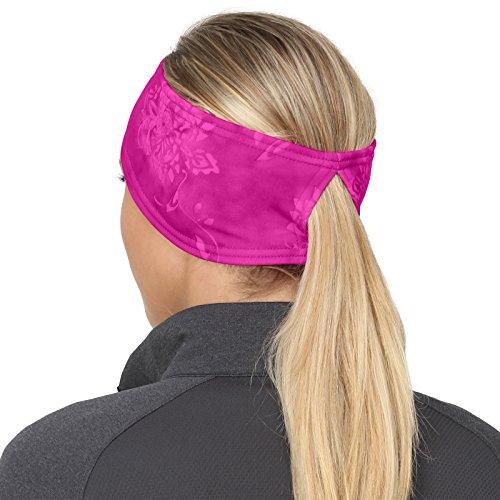 TrailHeads Women's Print Ponytail Headband – 12 prints - Made in USA - pink splash by TrailHeads (Image #4)