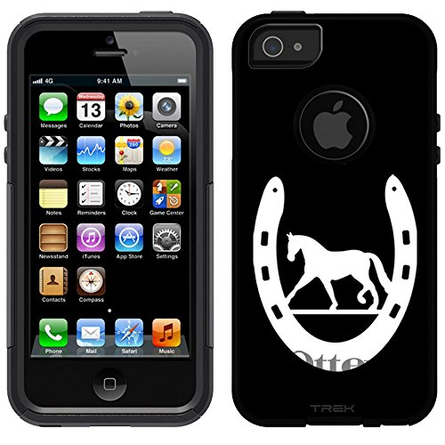 OtterBox Commuter Apple iPhone 5 & iPhone 5S Case - Silhouette Horse Shoe on Black OtterBox Case