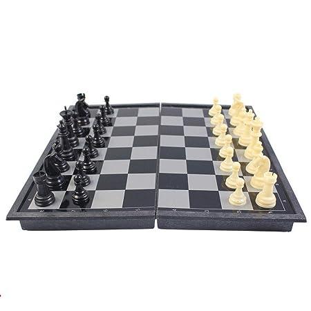 GuanJan Juego de ajedrez magnético Entrada de tamaño Grande y ...