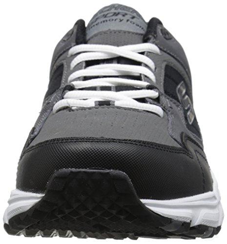 Skechers Sport Heren Uithoudingsvermogen Plus Sneaker Houtskool / Zwart