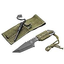 SE KHK6320-FFP Khk6320 Outdoor Tanto Knife with Fire Starter,, Black