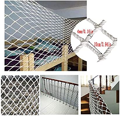 Malla de Seguiridad para Protección a Niños Balcón Red de Seguridad For Niños Red de Nylon Blanca Red Decorativa Foto Interior Decoración de La Pared Red Escalera Red a Prueba de Roturas