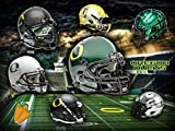 #4: Officially Licensed Oregon Ducks Head Gear 24x18 Football Poster